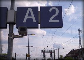 A2 am Bahnhof