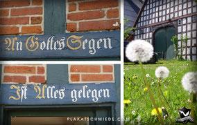 An Gottes Segen ist alles gelegen, Norddeutsches Rundlings haus