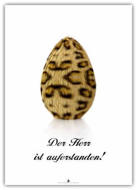 christliches Poster / Plakat, Ostern, Schaukasten, Kirche, Der Herr ist auferstanden!, Oster-Ei
