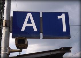 A1 am Bahnhof