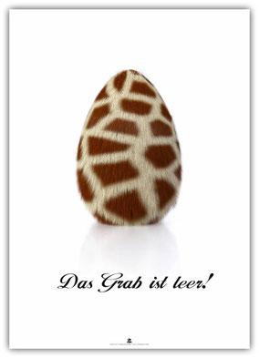 christliches Poster / Plakat, Ostern, Schaukasten, Kirche, Das Grab ist leer!, Oster-Ei