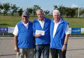 Platz 4 Geest-Bouler Breklum mit (v.l.) Bernd-Rito Sönksen, Horst Hansen und Hans-Werner Hansen