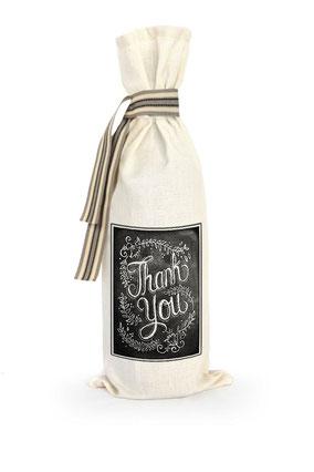 "Wijnzak ""Thank you"", origineel cadeau, Zuid-Afrika, verjaardagscadeau, feestdagen"