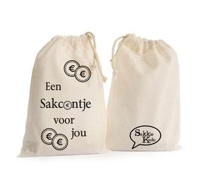 """Kado sakkie klein """"een sakcentje voor jou"""", origineel cadeau, Zuid-Afrika, verjaardagscadeau, feestdagen"""