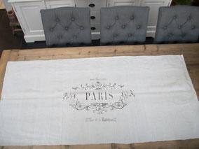 """Tafelloper """"Paris"""", Stoer, Sober, Industrieel, Puur, Robuust, Grof, Landelijk wonen, Sfeervol, Geleefd, Stijlvol, Doorleefd, landelijke stijl, landelijke decoratie"""