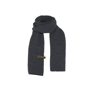 Antraciet sjaal Jazz, Knit Factory