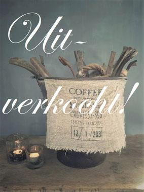 Shabby doek coffee klein, Stoer, Sober, Industrieel, Puur, Robuust, Grof, Landelijk wonen, Sfeervol, Geleefd, Stijlvol, Doorleefd, landelijke stijl, landelijke decoratie, vintage.