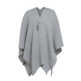 Licht grijze omslagvest Jazz, Knit Factory