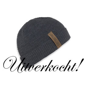 Antraciet muts Jazz Beanie, Knit Factory