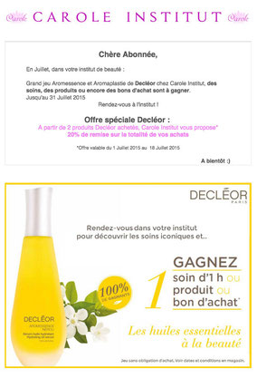 promotion newsletter carole institut