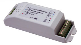 REP-3060 Descripción: Repetidor de Señal para RGB y Dimers Bajo voltaje CC y CV - Consumo: Potencias:75W/180W/360W Voltaje de Operación: CD 5V-24V