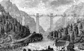 Gosauzwang mit Brücke über den Gosaubach