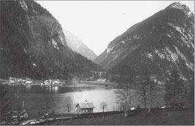 Gosauzwang im Jahr 1928 (© Severin Schenner)
