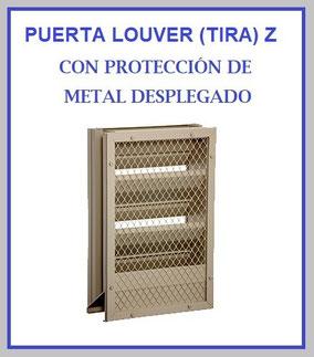 PUERTA LOUVER (TIRA) Z CON METAL DESPLEGADO