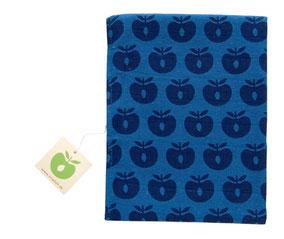 Smafolk bay Accessoires Schnuffeltuch Äpfel Blau aus Baumwolle