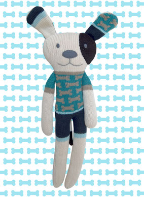 HickUps Strickhund Blau