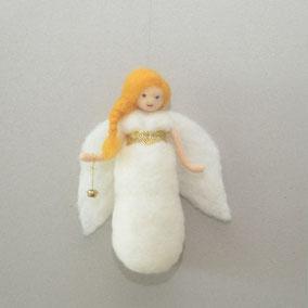 Engel mit Glöckchen, Engel, Schutzengel, Puppe,  Waldorfart, Waldorfpuppe, Dekoration Weihnachtszeit, Mobile Engel, Mobiles, Weihnachtsdekoration, Weihnachtsdeko, Geschenk zur Taufe, Geschenk zur Geburt,