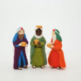 Krippenfiguren aus Filz, Krippenfiguren Wolle, Heilige drei Könige, die heiligen drei Könige, Heilige drei Könige Filz, nadelgefilzte Krippenfiguren, Heilige drei Könige nadelgefilzt, gefilzte heilige drei Könige, Krippenfiguren Sets gefilzt, gefilzt