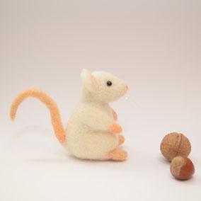 Maus aus Filz, Filzmaus, Filztiere, Filztier,  Sammelstück, Miniatur, Filztiere, Filzfigur, Maus aus Filz,