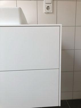 Möbel, dünne Platte und Fronten, schmale Fugen