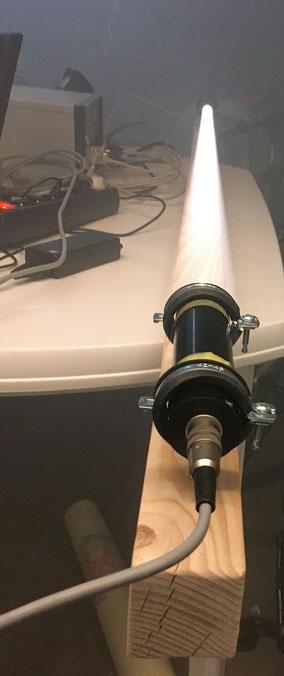 Die Lichtmessstrecke des TRDA Rauchdichte Messgerätes