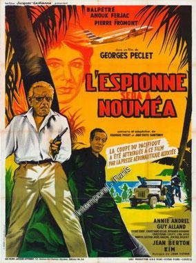 Affiche du film L'espionne sera à Nouméa 1960 avec Cécila Aubry © encyclocine.com