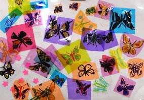 たくさんの蝶(セロファン・マジック)