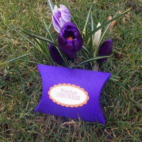 Geschenkverpackung lila