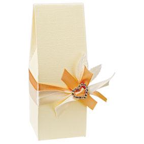 Milchkarton Geschenkschachtel beige