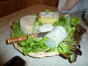 Plateau de fromages locaux