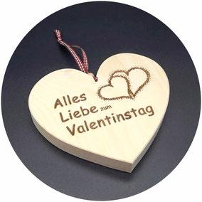 Geschenk zum Valentinstag Herz aus Zirben Holz