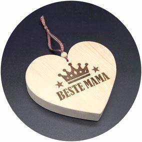 Holz Herz Beste Mama Bester Papa Beste Oma Bester Opa Beste Schwester Bester Bruder