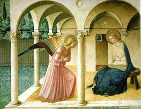 フラ・アンジェリコ「受胎告知」 1442年頃