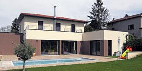 Maison contemporaine à Parcieux (01)