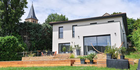Maison contemporaine à Poleymieux au Mont d'Or  (69)