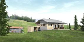 Maison en bois massif à La Pesse (39)