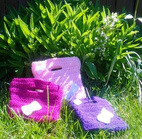 Taschen für kleine Kinder aus Acrywolle