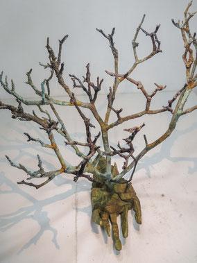 Glauben, Bronze, 2017, Höhe 54cm, Unikat