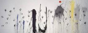 Mans volant cap a les constel·lacions de Joan Miró