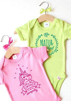 süße Babybodys mit selbstgemachten Designs- nähfein