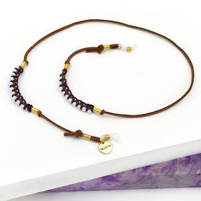 Brillenband mit Perlen im Hippie-Look