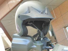 偵察用オートバイのヘルメット