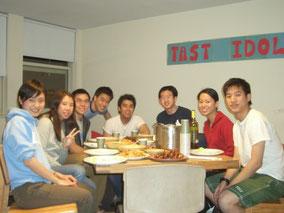 大学4年生のときに住んでいた寮「Chinese House」の中国人、台湾人、アメリカ人のハウスメイトたちと