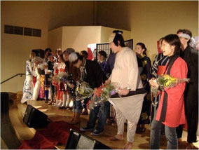 大学4年生のときに、Japanese Culture Clubで開催した「お祭り」イベント@大学のカフェテリア