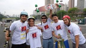 L'équipe du parcours en skate à São Paulo