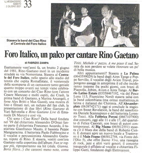 Foro Italico, 2001