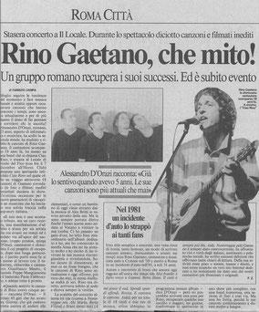 Il primo articolo dedicato ai CiaoRino, 1999!