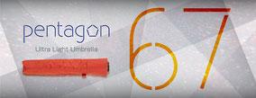 pentagonシリーズ最軽量の折りたたみ傘