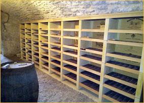 ensemble de colonnes de casiers à vins modulables