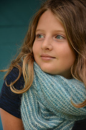 TOUR DE COU ENFANT MOHAIR made in france